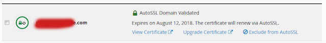SSL sudah aktif