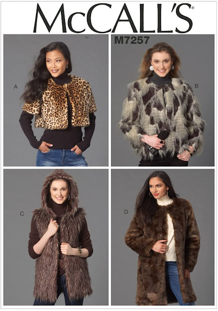 Faux Fur Vest Knitting Sewing Pattern Guide Book