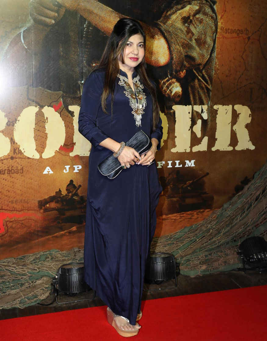 Randhir Kapoor and Alka Yagnik at 'Border' Movie's 20 Year Completion Party Gallery
