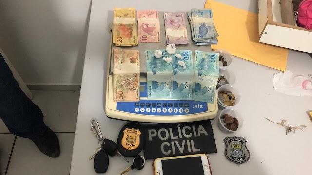Operação da Polícia Civil resulta na prisão de três pessoas por trafico de drogas em Campo Maior