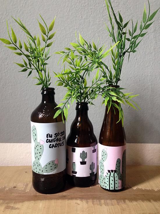 vaso de plantas, vaso decorado, vidros decorados, garrafas de vidro, vasos de vidro, reciclar garrafas, recycle, upcycling, a casa eh sua, acasaehsua, decoração, diy, faça você mesmo, home decor