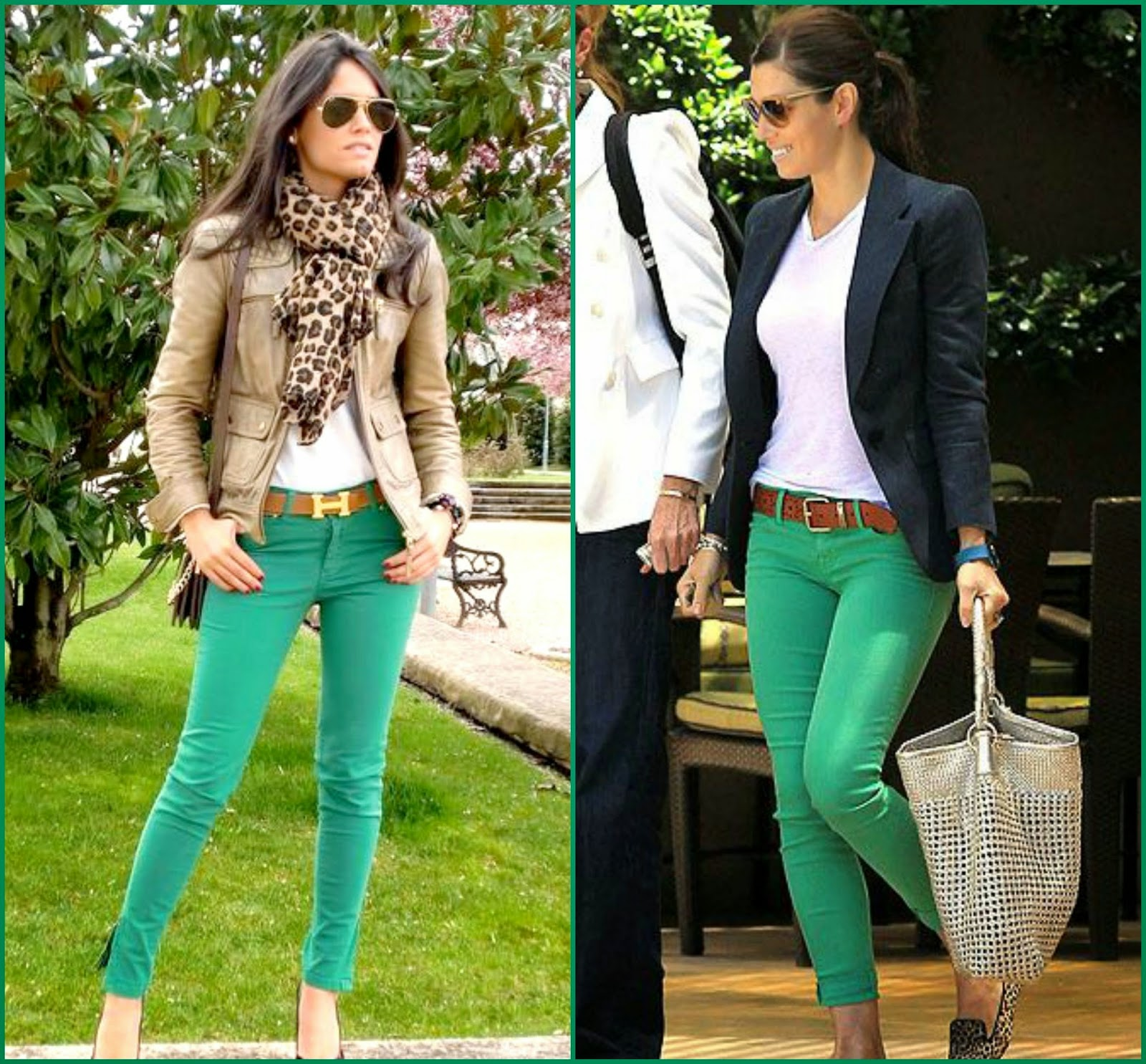 Green pants and Blazer styles, how to wear green pants, blazer with green pants