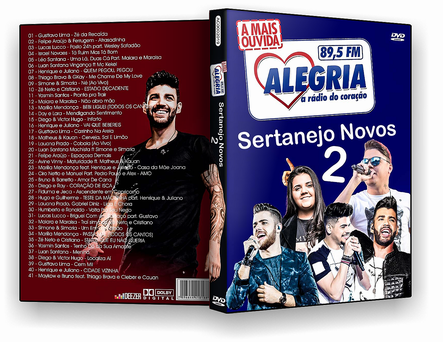 CAPA DVD – Rádio Alegria Sertanejos Novos 2 – DVD-R