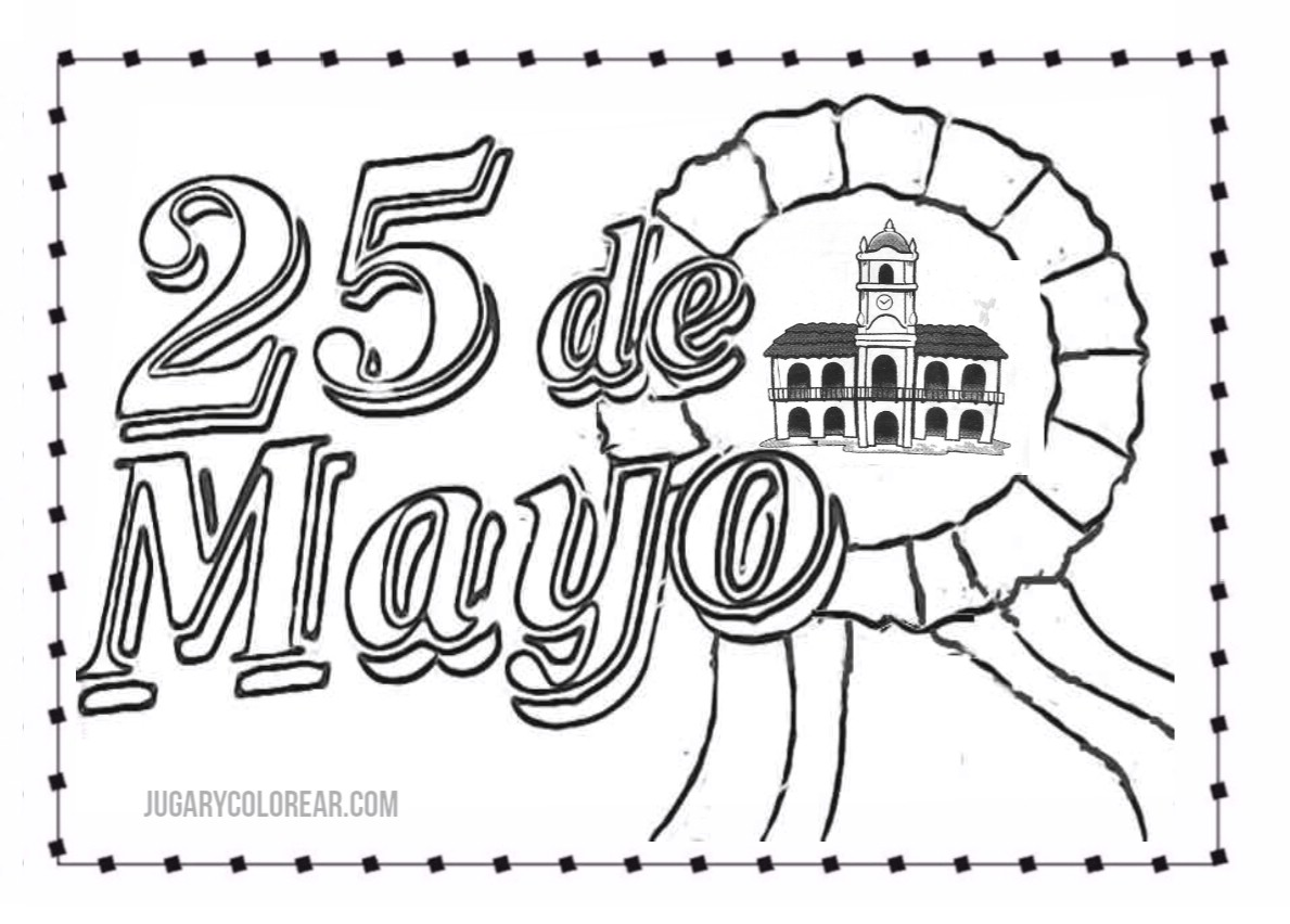 Colorear Argentina 25 De Mayo