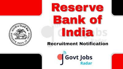 RBI recruitment notification 2019, govt jobs in India, govt jobs for graduate, central govt jobs, govt jobs for post graduate