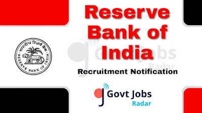 RBI Recruitment Notification 2019, RBI Recruitment 2019 Latest, govt jobs in India, govt jobs in bank, bank jobs, central govt jobs, latest RBI Recruitment Notification update