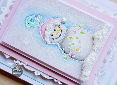 SRM Stickers Blog - Let it Snow! by Michele - #card #christmas #glitter #clearstamps #janesdoodles #warmwishes #glitter