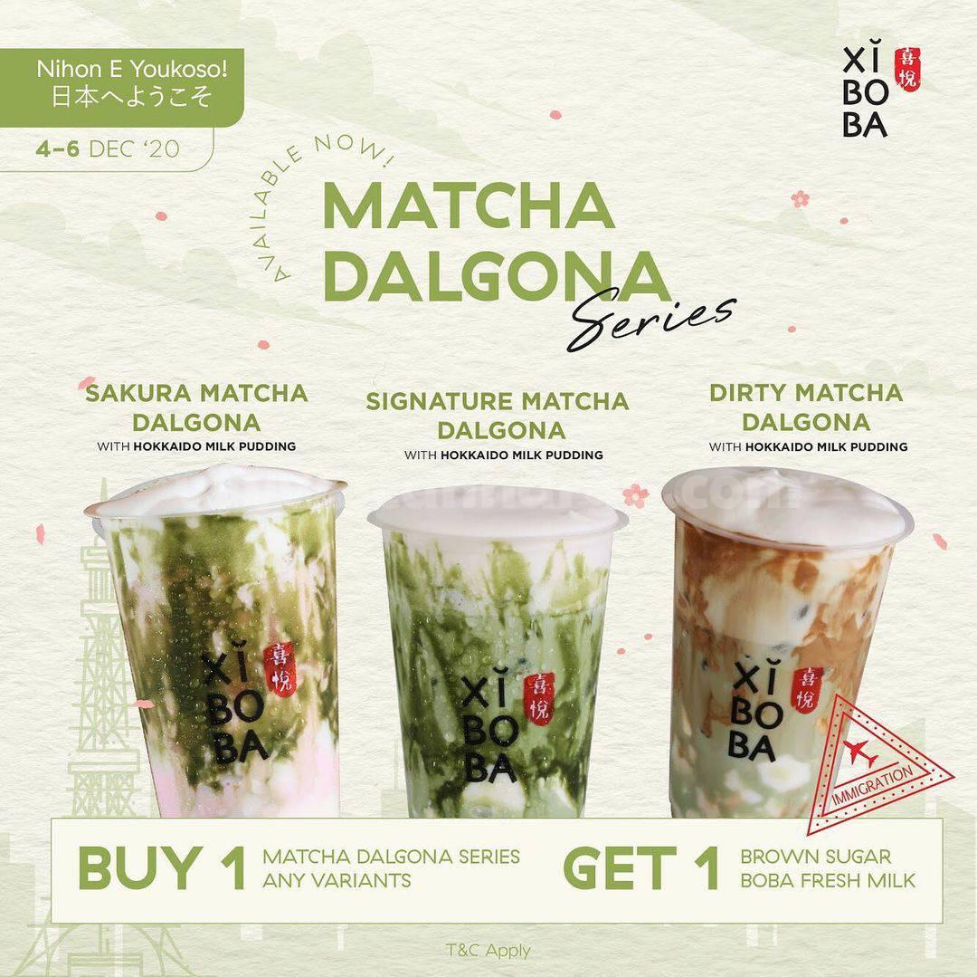 Promo Xiboba Matcha Dalgona Series Buy 1 Get 1 Free