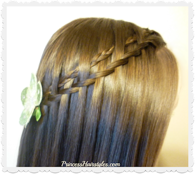 Micro woven waterfall twist braid tutorial.