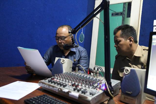 Plt. Bupati Umumkan Penerimaan CASN Lewat Radio Pemkab Labuhanbatu