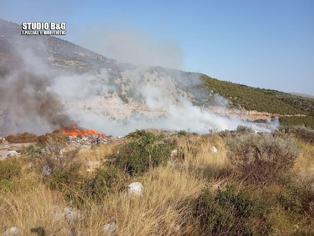 Πυρκαγιά στο Λυγουριό Αργολίδας