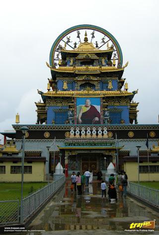 Namdroling Nyingmapa Monastery in Bylakuppe, Mysore district, near Kushalnagar, Karnataka