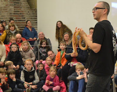 Woodhorn Museum near Ashington, Northumberland - Guy Tansley from Bugs n Stuff live snake demonstration