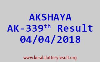 AKSHAYA Lottery AK 339 Results 04-04-2018