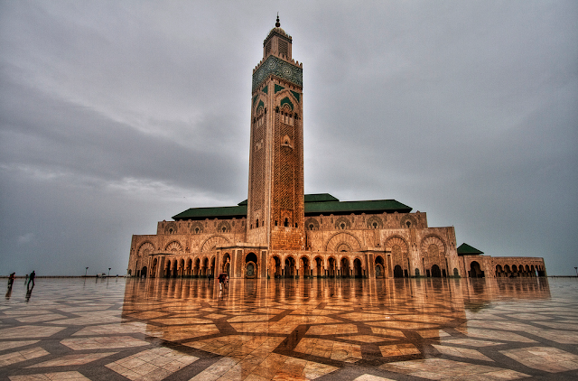 Hassan II Mosque Back View