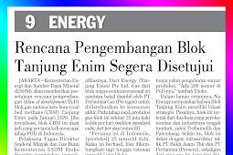Tanjung Enim Block Development Plan Approved Soon