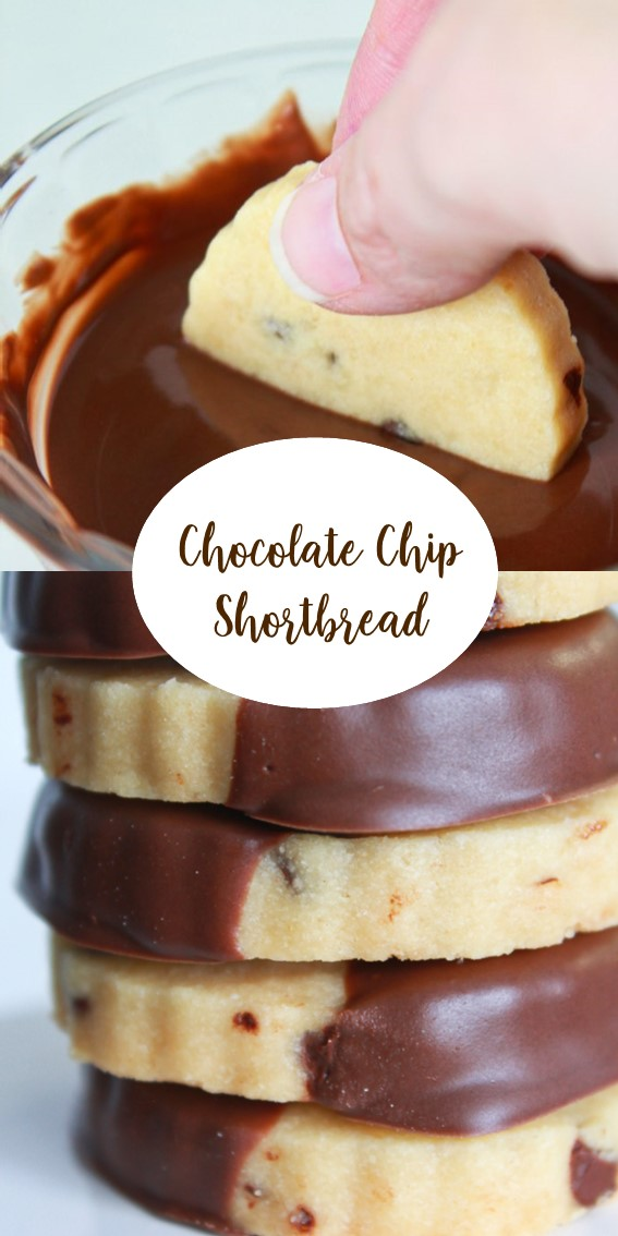 Chocolate Chip Shortbread #Chocolate #Shortbread #Cookies #Brownsugar #dessert