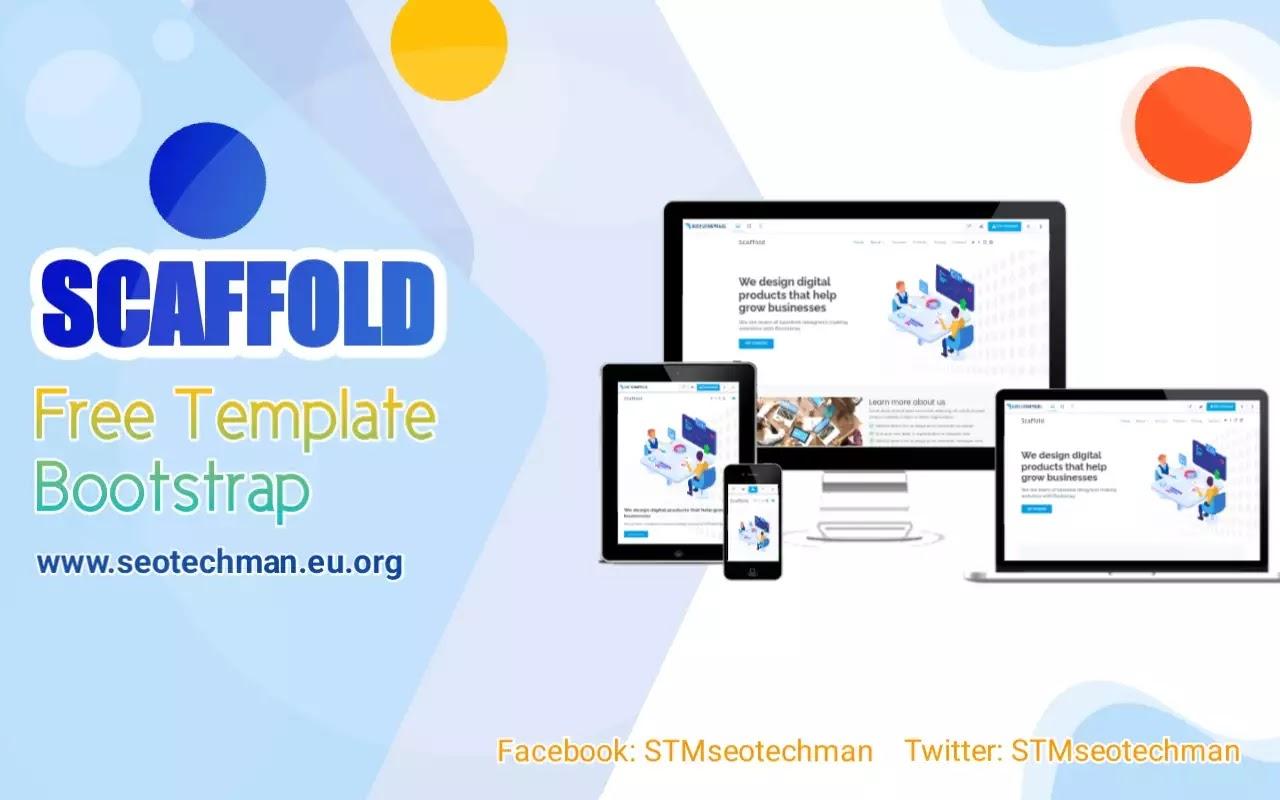 Scaffold Template HTML Bootstrap Modern