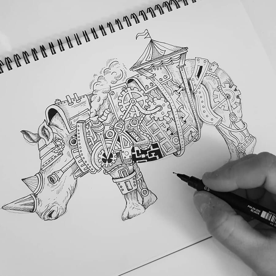 07-Rhino-Steampunk-Steve-Turner-www-designstack-co