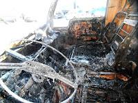(ФОТО)В Сухом Логу 27 ноября сгорел грузовой автомобиль марки SG108DA
