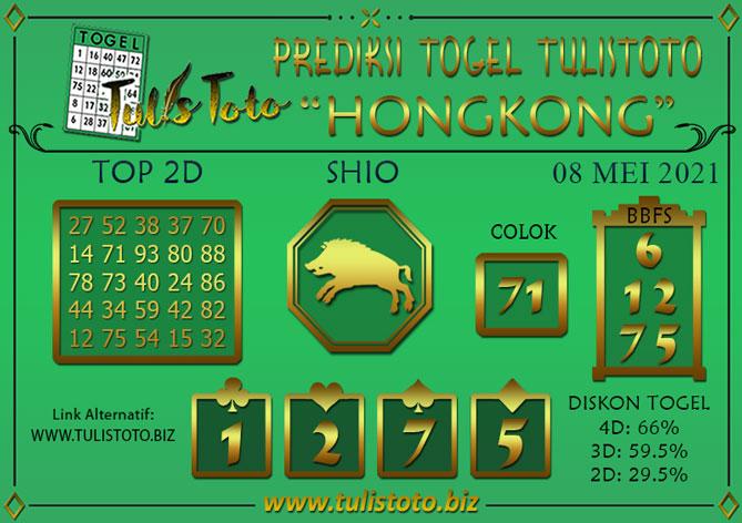 Prediksi Togel HONGKONG TULISTOTO 08 MEI 2021