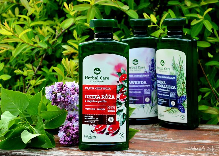 Kąpiel Odżywcza Dzika Róża z olejkiem perilla Herbal Care Farmona