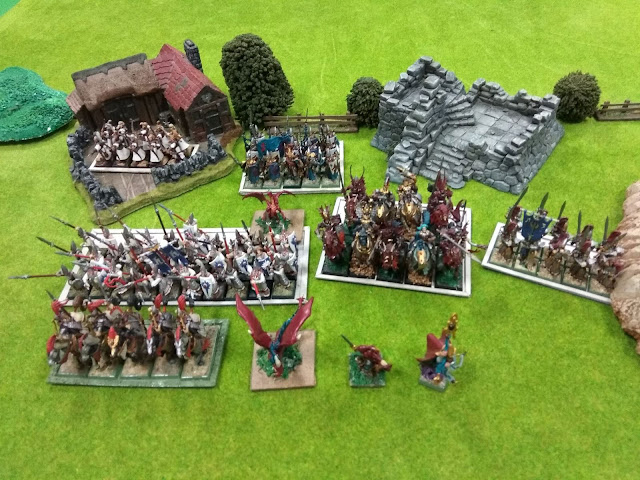 ejército pintado Elfos Elves painted army Kings of War KOW
