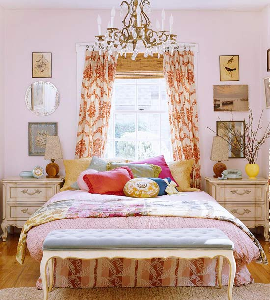 Cottage Bedrooms: New Home Interior Design: Cozy Cottage-Style Bedrooms