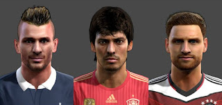 Faces: Mathieu Debuchy, David Silva, Shkodran Mustafi, Pes 2013