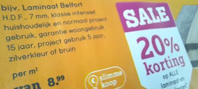 Leen Bakker laminaat met 20% korting Belfort