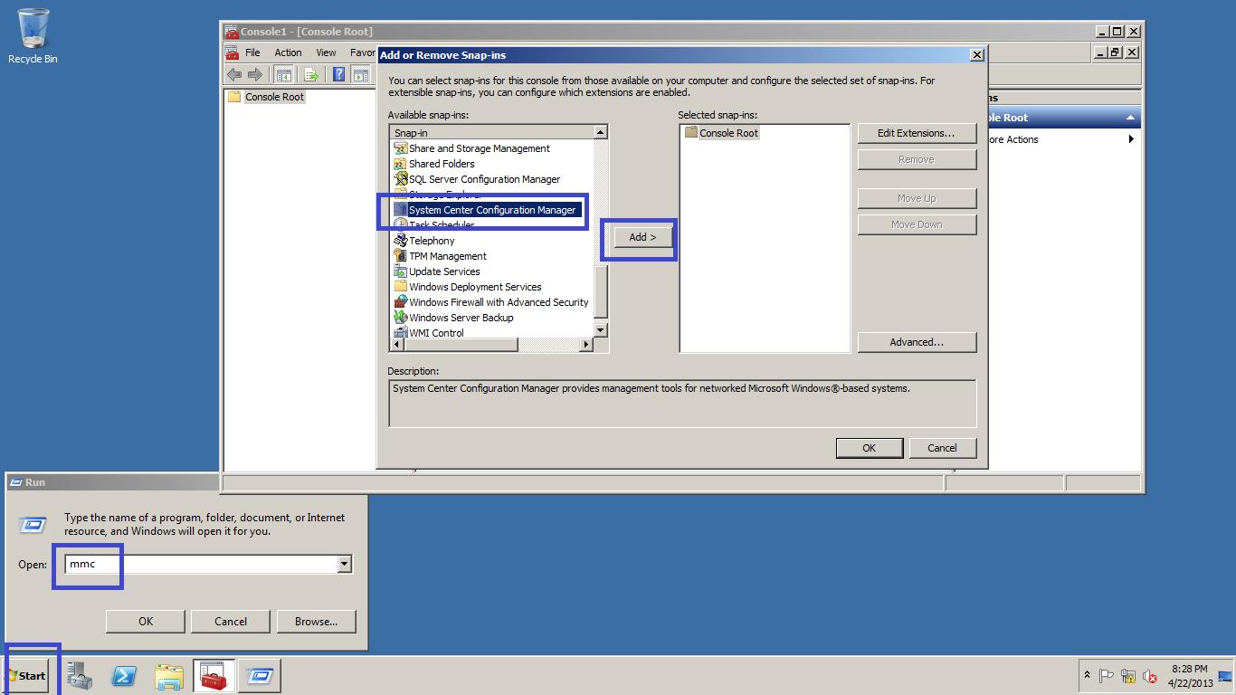 Building Customized SCCM 2007 Console