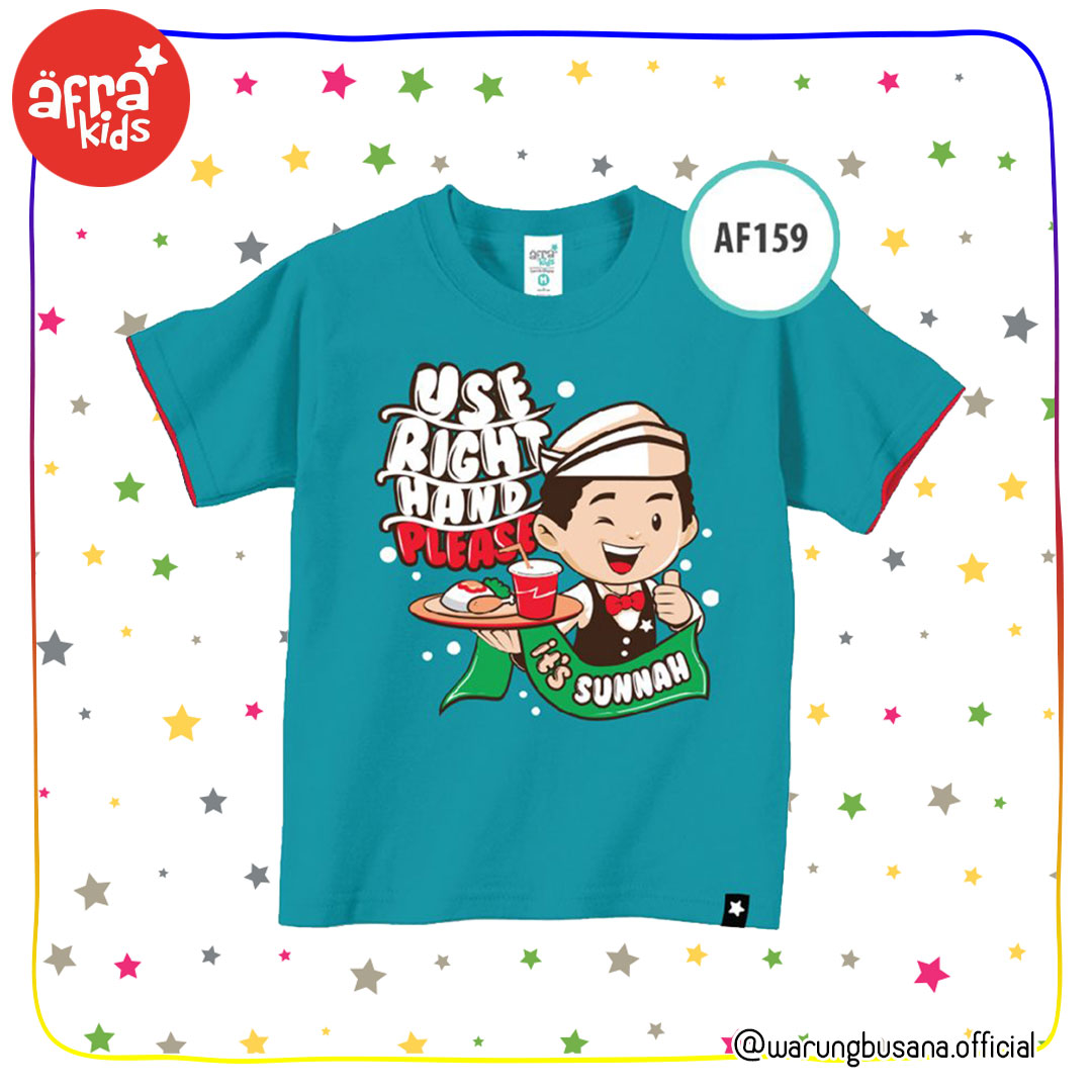 Afrakids Kaos Anak AF159 Use Right Hand Please
