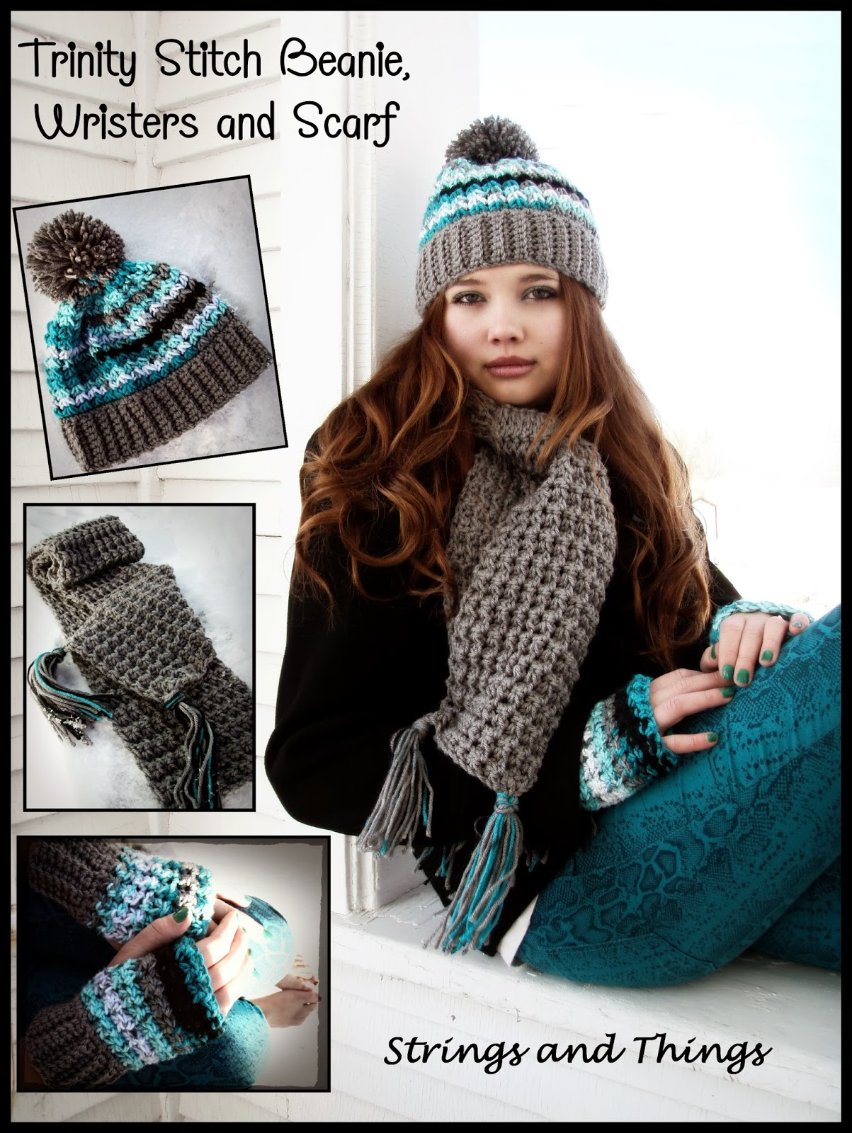 9162488e69b This Housewife Life  Trinity Hat Beanie ~ With or Without Pom~Pom ~ FREE  PATTERN
