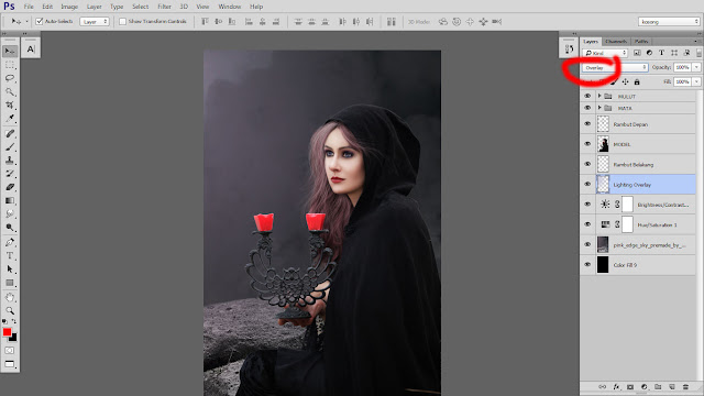 31 Design cover buku Novel dengan Photoshop CC part2