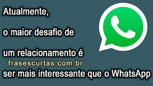 status whatsapp e facebook