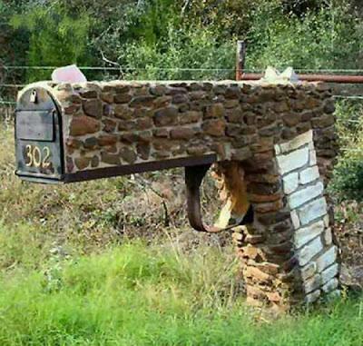 Diseño de buzón de correo totalmente fuera de lo común.