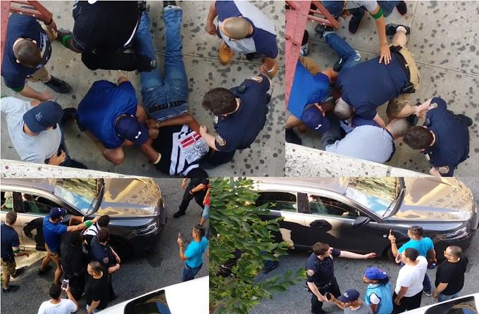 Brutalidad policial contra un dominicano en el Alto Manhattan que no se resistió al arresto