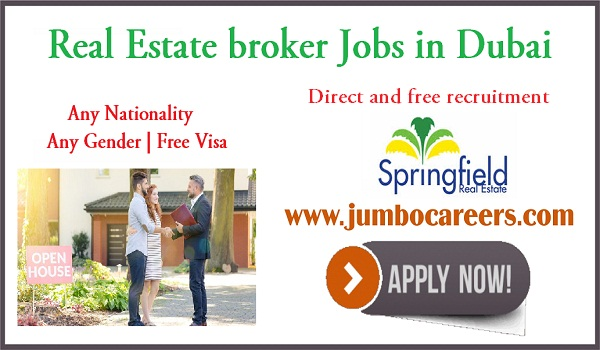 Real estate jobs for Indians, Recent jobs in Dubai 2018,