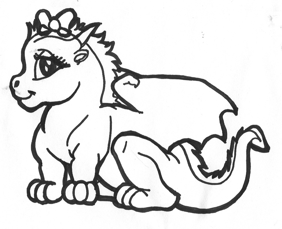 cute dragon coloring pages - photo#22