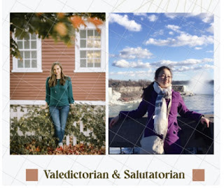Carolyn Hagy's Senior Photo(left) & Elaine Pu traveling to Niagara Falls(Right)