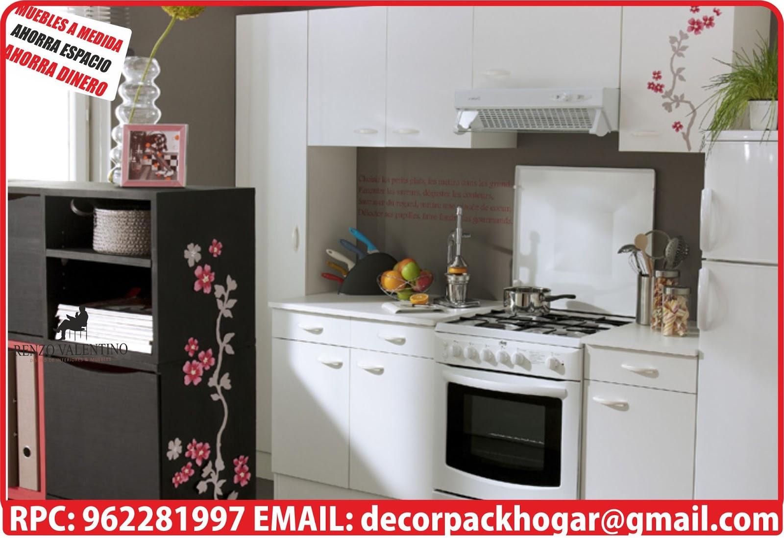 Dise os fabricacion de closet cocina y muebles de oficina for Modelos de muebles de cocina para espacios pequenos