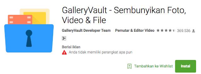 Menyembunnyikan file apliaksi foto video di android paling aman