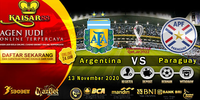 Prediksi Bola Terpercaya Ajang World Cup Argentina Vs Paraguay 13 November 2020