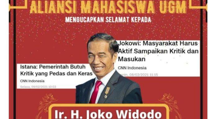 Usai BEM UI, Kali Ini Giliran UGM Sindir Jokowi: Juara Lomba Ketidaksesuaian Omongan dengan Kenyataan!