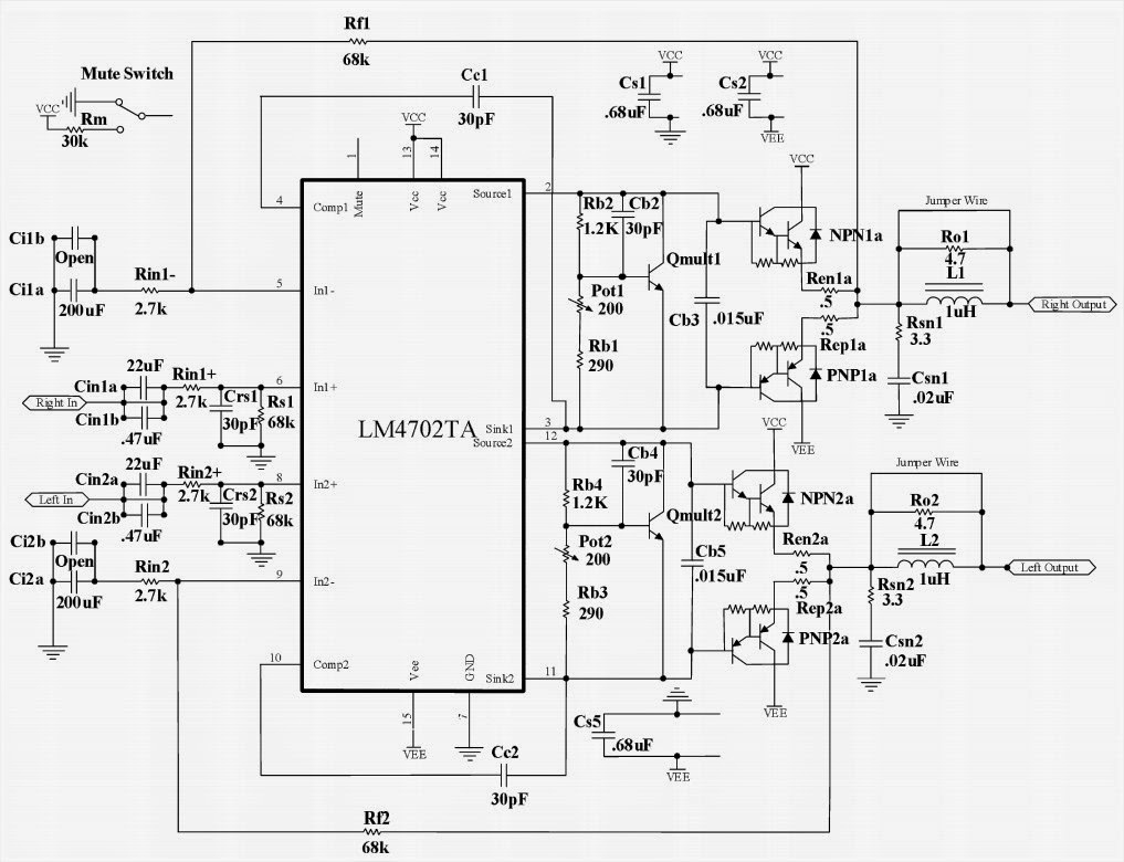 small resolution of 2x300w audio power circuit circuit diagram