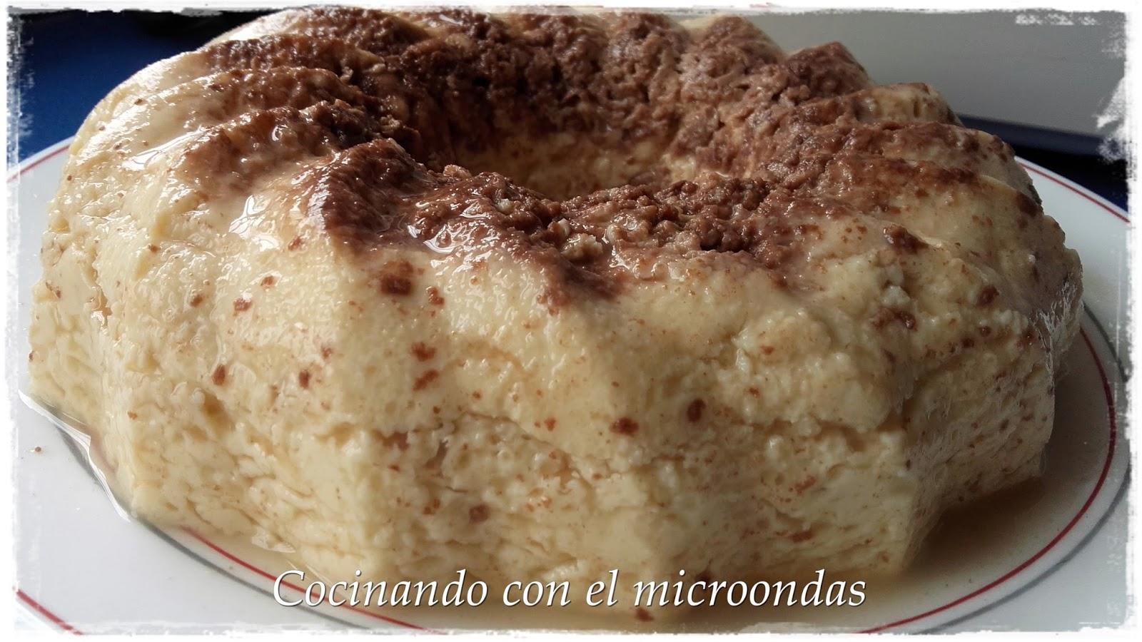 flan queso burgos en microondas