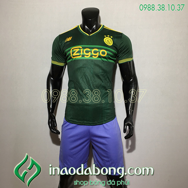 Áo Bóng Đá CLB Ajax Màu Xanh 2020 Đẹp