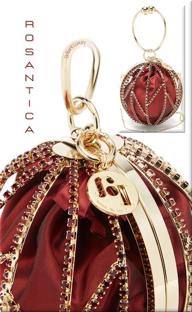 Rosantica red Alice mini crystal and satin clutch bag #bags #eveningbags #rosantica #brilliantluxury