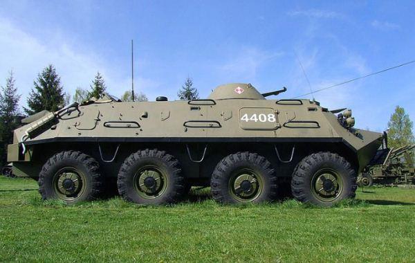 Kendaraan angkut personel (APC) BTR-80 Rusia