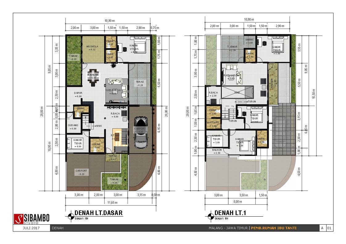 Desain Keren Rumah Minimalis Modern 2 Lantai Di Lahan Hook Ini